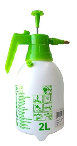 CON:P - Spruzzino nebulizzatore da Giardino, capacità 2l, con Robusto Contenitore sotto Pressione e ugello Regolabile in Ottone, Multicolore
