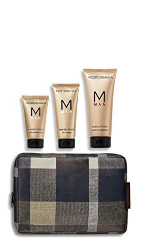 Mediterranea - Cofanetto Attenzioni per Lui - Idea Regalo Uomo con Shampoo&Shower, crema viso antiaging e crema mani della Linea Man Mineral Power