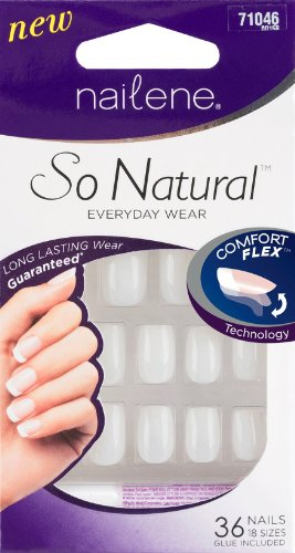 Nailene So Natural Perfect Fit Undecorated unghie corte