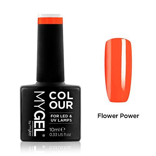 Smalto MyGel, da MYLEE (10ml) MG0098 - Flower Power UV / LED Nail Art Manicure Pedicure per uso professionale in soggiorno ea casa - Lunga durata e facile applicazione