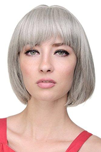Wig Me Up - Caschetto Bellissimo, Parrucca, Frangetta Dritta, Grigio, Sfumature Grigio-Nero, Sfumature Argento-Nero, Meches, 703-51
