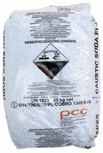 acquaverde kg 25 Soda caustica Scaglie sverniciatore disincrostante Sodio idrossido Pulizia