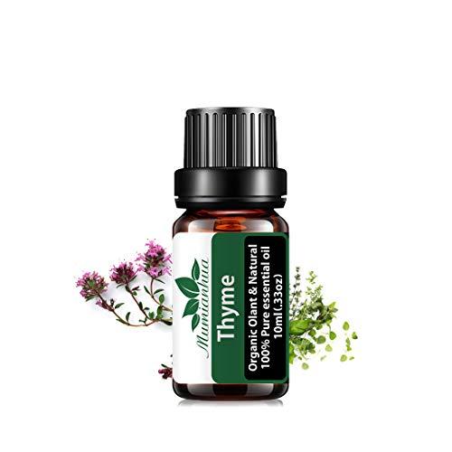 Olio essenziale di timo - Oli profumati al timo puro Mumianhua 10ml Olio aromaterapico al timo biologico per diffusore, umidificatore, produzione di sapone