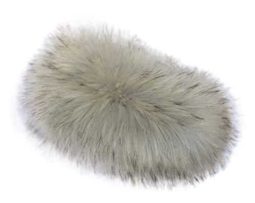 Chic Vibe - Fascia per capelli in pelliccia sintetica (grigio chiaro)