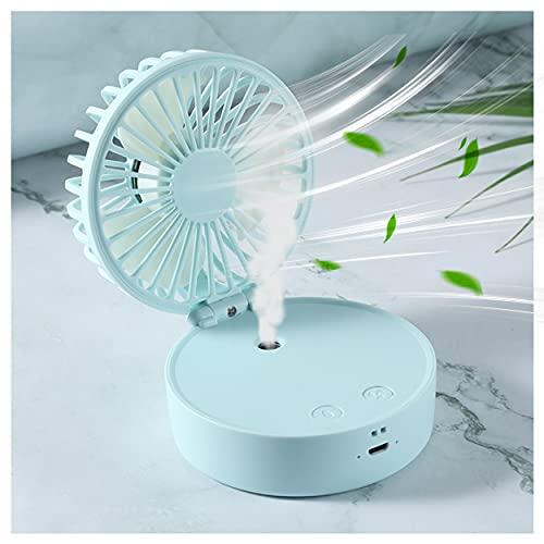 Mini Ventilatore USB Silenzioso,Ventilatore Nebulizzatore Portatile Ricaricabile,con 2000mah Batteria,3 Velocità,per Ufficio,Casa Viaggi,Ventilatore Auto,Esterno Campeggio