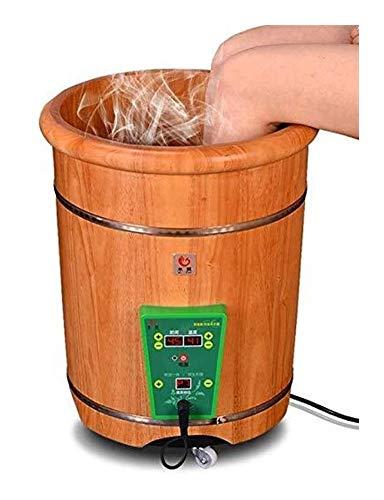 WANG XIN Massaggiatore Plantare Machine - Pedale Elettrico di Lavaggio Barilotto di Legno del Vento pediluvio Barrel Temperatura costante riscaldata Pedicure idromassaggio Regalo Spa Footbath