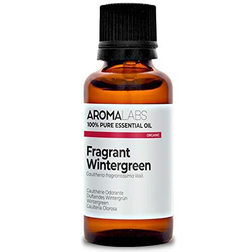 Aroma Labs Wintergreen Bio - 30Ml - Olio Essenziale Bio E Naturale Al 100% - Qualità Verificata Mediante Cromatografia - Aroma Labs - 30 ml