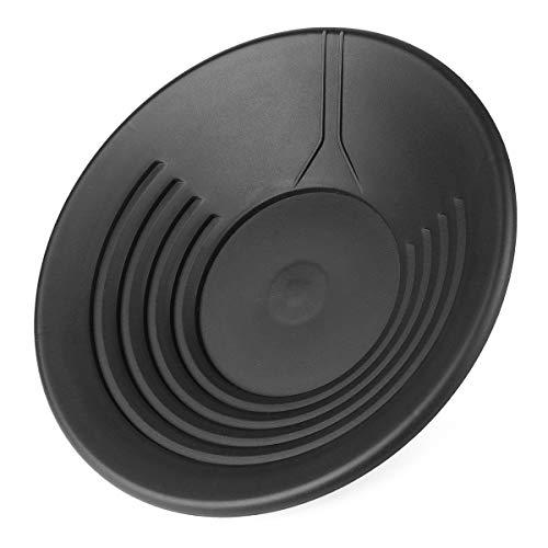 MYAMIA 14'Plastic Gold Bacino Bacino Bacinella Estrazione Mineraria Dragaggio Rilevamento del Fiume Panoramica del Metal Detector - Black
