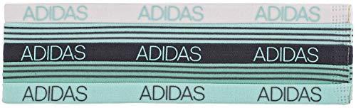 Adidas, 5 fasce per capelli Creator da donna, colore acqua/verde fresco, onice/bianco, taglia unica