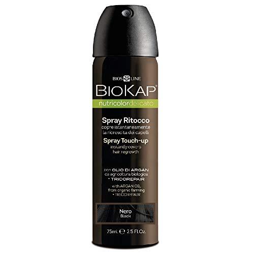 Bios Line 68403 Biokap Nutricolor Delicato Spray Ritocco, Nero