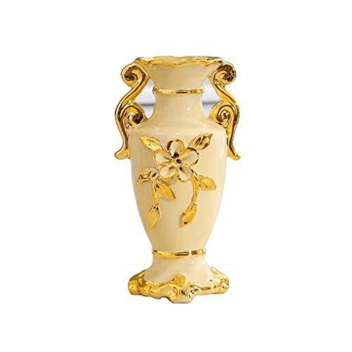 Vaso, in Stile Europeo Vintage Ceramica Grande Vaso di Fiori Soggiorno Tavolo da Pranzo Centro Tatuaggi Camera Ufficio Hotel Decorazione Domestica Dipinta A Mano Alto Vaso Decorativo, 13x25cm