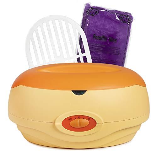 Kit per paraffina per mani e piedi, con cera e paraffina, colore arancione