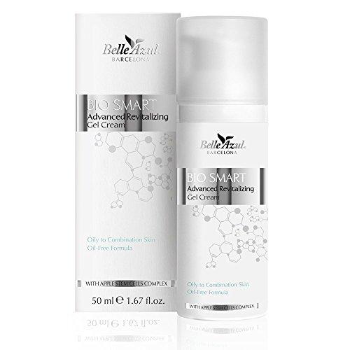 Belle Azul Bio Smart Regenerative Gel Cream- Crema rivitalizzante per pelli grasse o miste con formula oil free riduce visibilmente i segni dell'età (50 ml)