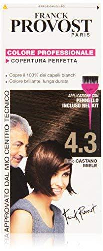 Franck Provost Set 6 Tinte Per Capelli Tonalità 4.3 Castano Miele - 1000 Gr