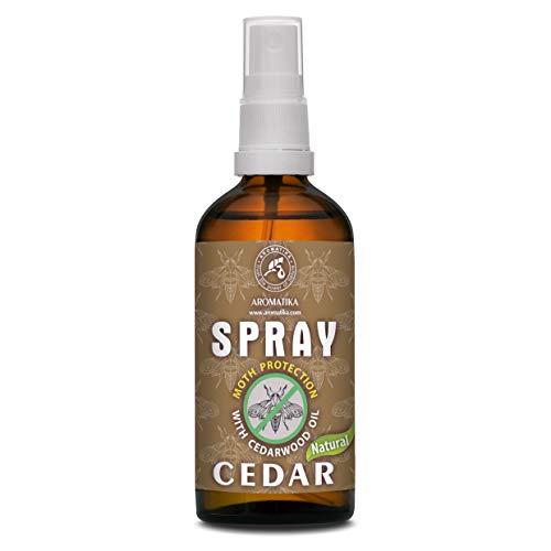 Spray Antitarme con Oli Essenziali di Cedro e Limone 100ml - Protezione Antitarme per Armadio - Rinfrescante per Guardaroba - Protezione Naturale Contro le tarme - Cura del Panno