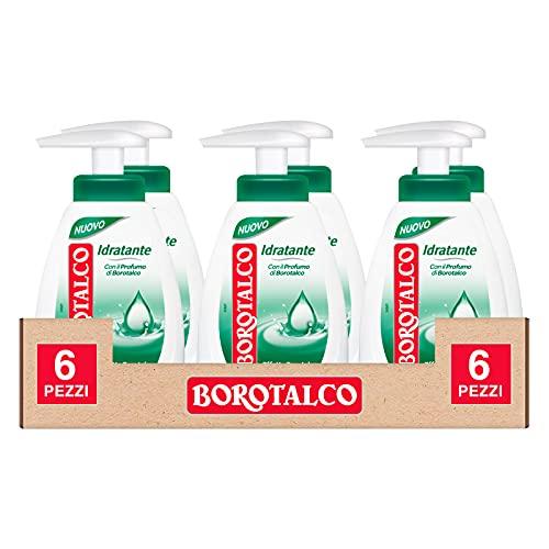 6x Borotalco Sapone Liquido Idratante con Profumo di Borotalco Effetto Pelle Morbida - 6 Flaconi da 250ml ognuno