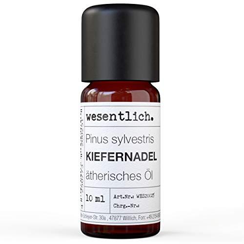 wesentlich, olio essenziale puro di aghi di pino, 100% naturale, in bottiglia di vetro (10 ml)