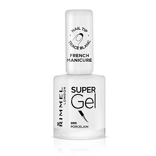 Rimmel London Super Gel French Manicure Smalto Unghie Effetto Nail Polish Gel a Lunga Durata, 12 ml, 090 Porcelain