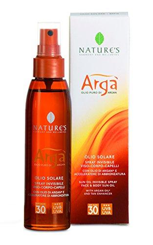Bios Line Arga' Olio Solare Spray Invisibile, Spf 30-150 ml