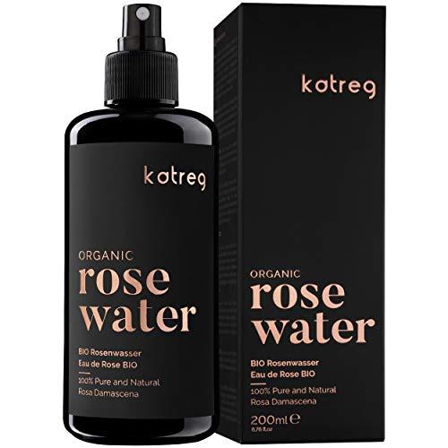 KATREG Acqua di Rose Organica - Spray 100% Naturale e Puro per Pelle e Capelli - Idratante, Rinfrescante, Purificante, Tonificante e Calmante Distillata in Bulgaria da Petali di Rosa Damascena - 200ml