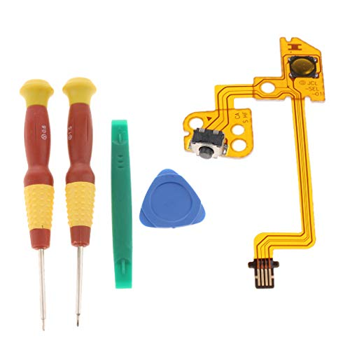 Fix Part L Button Key Ribbon Flex Cable Per Controller Kit Fai Da Te Sostituisci Parts + Kit Cacciavite