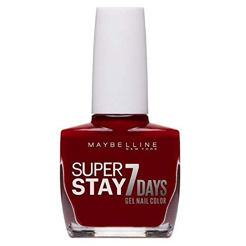 Maybelline New York Superstay 7 Days Smalto Effetto Gel, 06 Deep Red