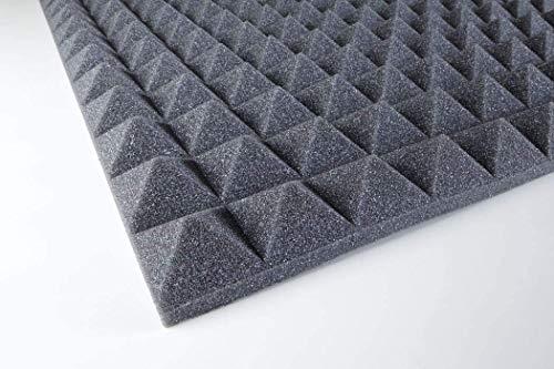 Pannelli fonoassorbenti fonoassorbente IGNIFUGO insonorizzanti 100x100x3 Cm 1mq mod B piramidale per correzione audio in poliuretano isolamento acustico udito