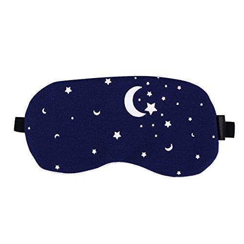 ROSENICE, mascherina per dormire con cuscinetto refrigerante, regolabile, maschera per occhi (cielo stellato)