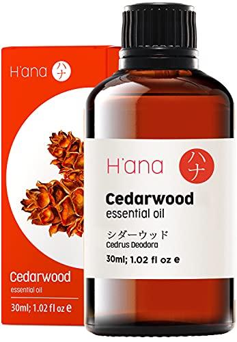 Hana, olio essenziale di legno di cedro, per la crescita dei capelli, per diffusore e aromaterapia, 30 ml, 100% puro, per uso terapeutico
