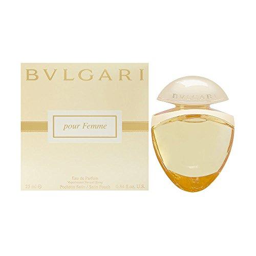 Bvlgari, Pour Femme, Eau de Parfum da donna, con sacchettino in raso, 25 ml