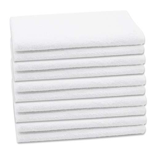 ZOLLNER Set di 10 Asciugamani per Gli Ospiti, 40x60 cm, Cotone, in Altra Misura