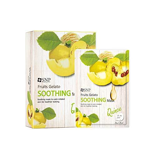 SNP Shining Nature Purity Maschera viso di gelato alla frutta Confezione da 10 Lenitivo - mele cotogne