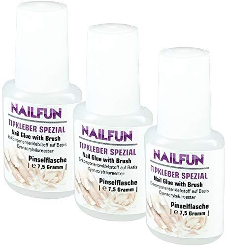 NAILFUN 3 Boccette di Colla 7.5 g per Unghie Finte