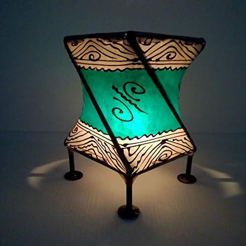 Etnico Arredo Porta Candela Lanterna Ferro Pelle Henne Araba Marocchina Chic 1110191606