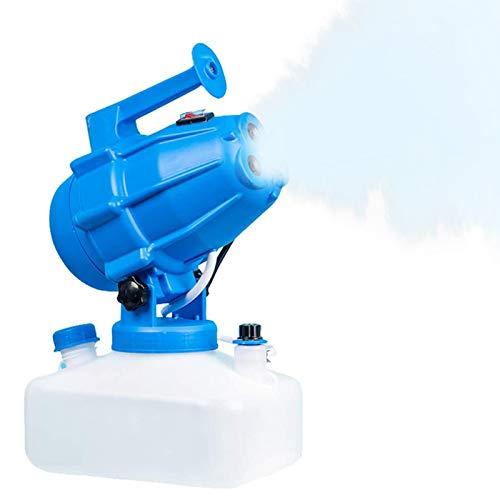 TOPQSC Spruzzatore Elettrico ULV 5L, spruzzatore Portatile per la disinfezione di Droghe per zanzare a Freddo Portatile per Interni Giardino Esterno Casa Hotel Scuola Fattoria (Blu)