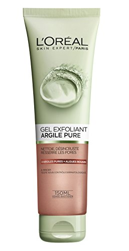 L'Oréal Paris, gel esfoliante per viso in pura argilla, 150 ml, (versione francese)