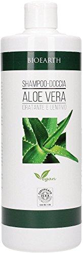 BIOEARTH - Shampoo Doccia Aloe Vera - per Capelli Secchi, Fini e Trattati - Adatto all'uso quotidiano - Vega - 500 ml