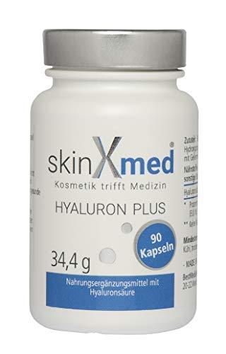 SKINXMED Acido Ialuronico puro | Filler viso | Effetto tensore | Integratore articolazioni | Antiage Uomo/Donna | 100% Naturale | 90 capsule | Combinabile con crema e siero antietà della stessa linea