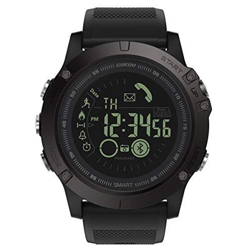 Smartwatch Uomo Fitness Tracker Sport Impermeabile Smart IP67 per sport e tempo libero, contapassi, contapassi, cronometro calorico, monitor del sonno, compatibile con iOS e Android