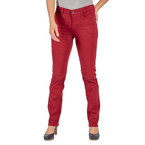 MAC Dream Jeans Straight, Rosso (Rubin Red 458R), 32W x 32L Donna