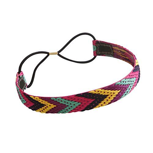 Dontdo Fascia per capelli per il viso in stile etnico Boho da donna, fascia elastica intrecciata, accessorio 4 #