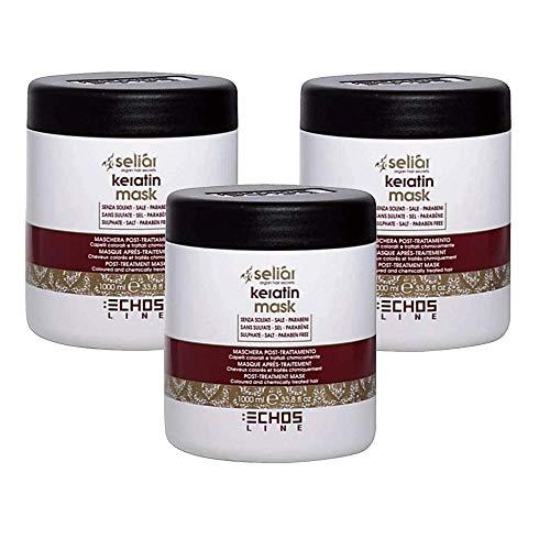3X Seliar Keratin Mask - Maschera Post-Treatment per Capelli Colorati e Trattati - 1000 ml - EchosLine