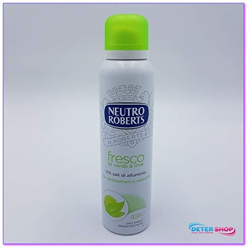 Neutro Roberts Fresco Deodorante Spray, Tè Verde e Lime - 125 ml