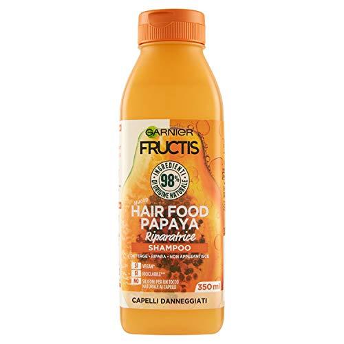 Garnier Fructis Shampoo Riparatore alla Papaya per Capelli Danneggiati, 350ml