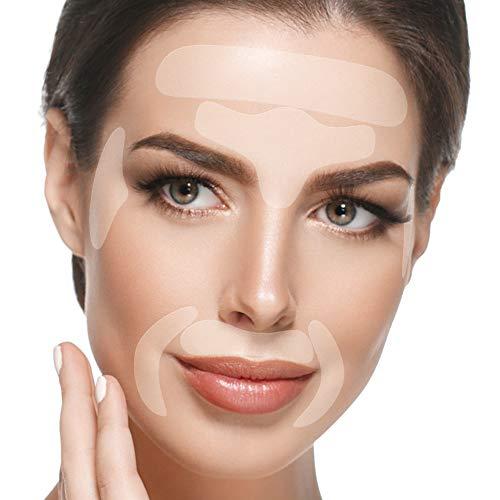 Blumbody Strisce Antirughe per il Viso - 165 Facial Cerotti per la Rimozione delle Rughe de Fronte, Occhi, Bocca - Riutilizzabili Rughe Patch per il Trattamento Anti - Invecchiamento