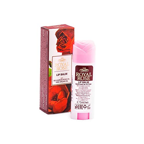 BALSAMO LABBRA ALL'OLIO DI ROSA ED ARGAN STICK LIP BALM WITH ROSE&ARGAN OIL 'ROYAL ROSE' 5ML
