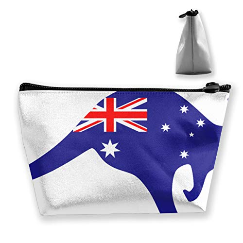 Australia Cosmetic Bag with Zipper, Toiletry/Travel Bag for Brushes Jewelry Accessories