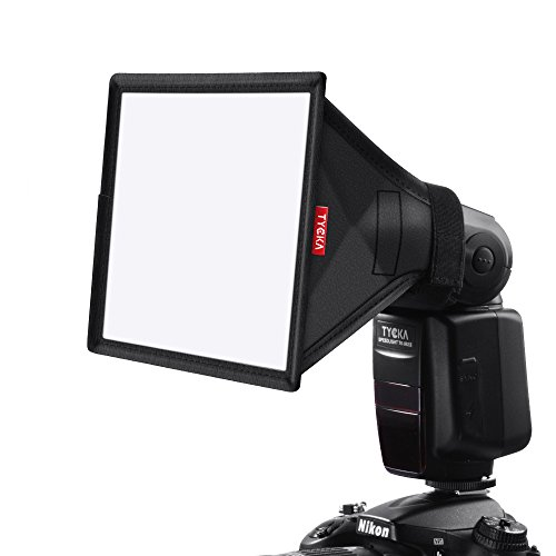 TYCKA 15 x 13cm Flash Softbox Diffusore (universale, pieghevole) per Nikon, Canon, Sony, Yongnuo e altri flash DSLR