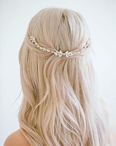 Simsly Bride - Cerchietto da sposa per capelli, con cristalli, per donne e ragazze