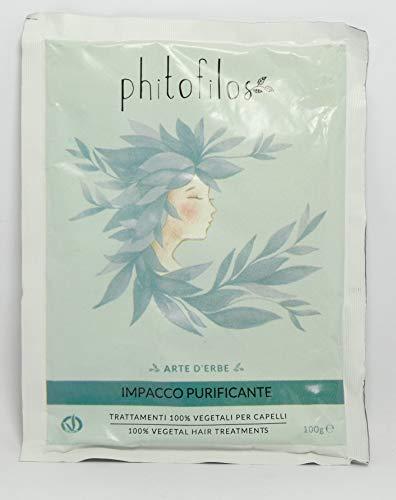 PHITOFILOS - Impacco Purificante per Capelli - Contro la Forfora Secca e Grassa - Rinforzante e Anti Caduta - Trattamento 100% Vegetale - 100 gr
